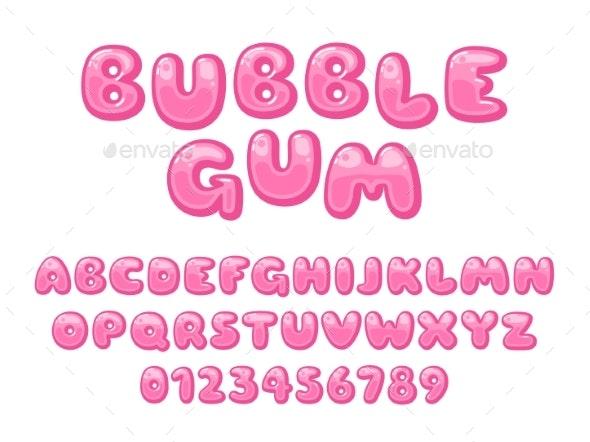 Bubble Gum Alphabet - Miscellaneous Vectors