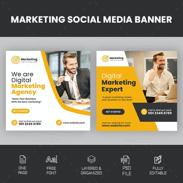 Social Media Marketing Banners 2 Template