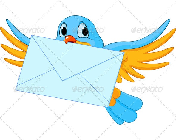 Bird with letter - Animals Characters