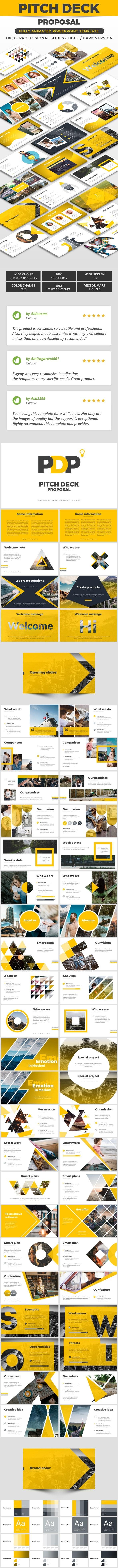 Pitch Deck Proposal - Pitch Deck PowerPoint Templates