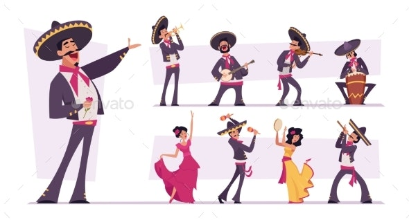 Mexican Mariachi - People Characters