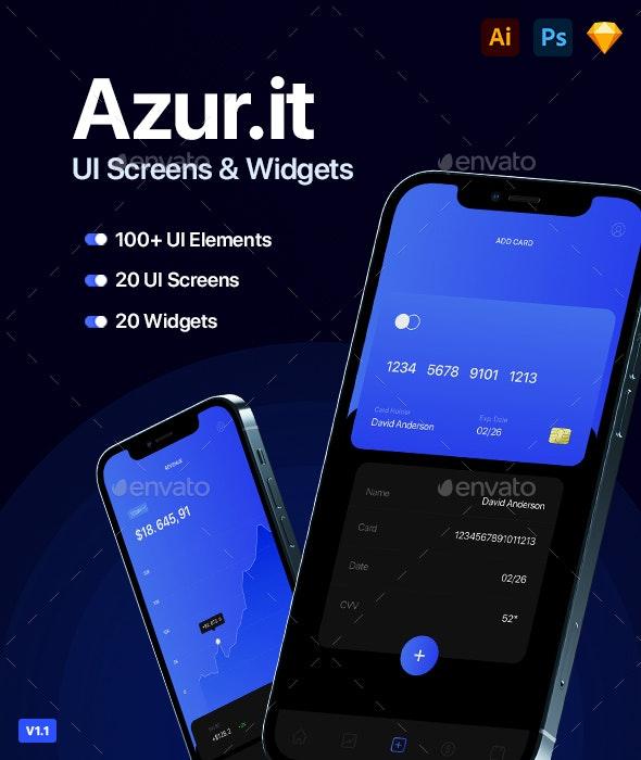 Azur.it – UI Design Pack - User Interfaces Web Elements