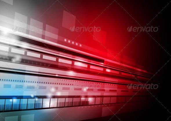 Vector hi-tech background - Backgrounds Decorative