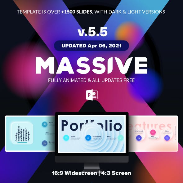 Massive X Presentation Template v.5.5 Fully Animated