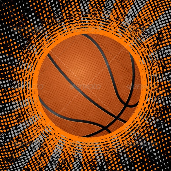 abstract basketball background - Sports/Activity Conceptual