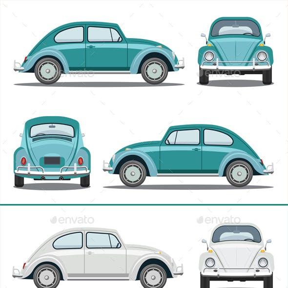 Old Car Isometric Set