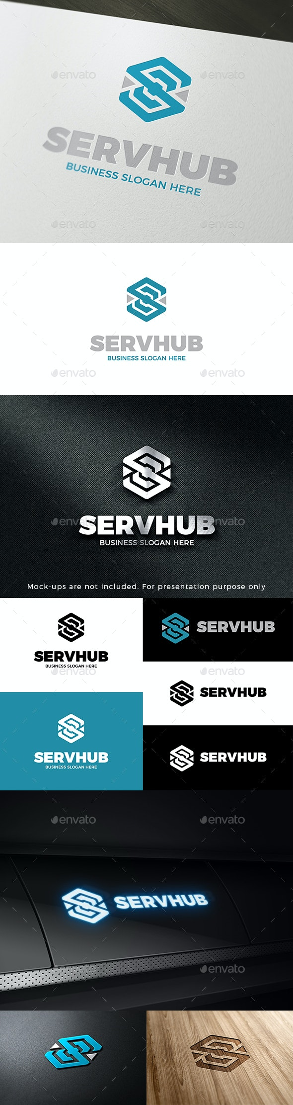 Serv Hub Abstract Cube S Symbol Logo - Abstract Logo Templates