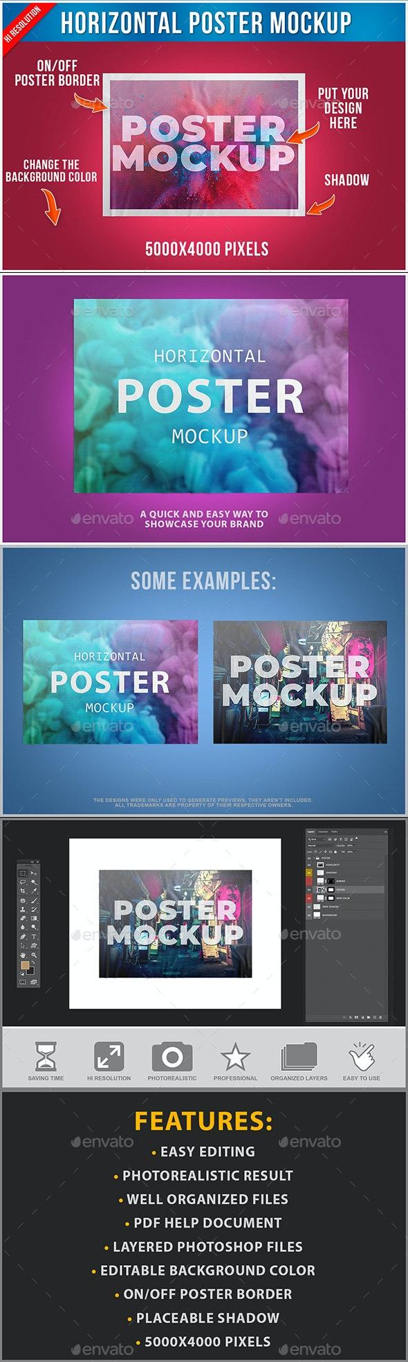 Poster Mockup - Posters Print