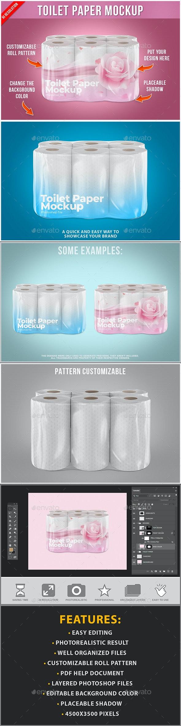 Toilet Paper Mockup - Product Mock-Ups Graphics