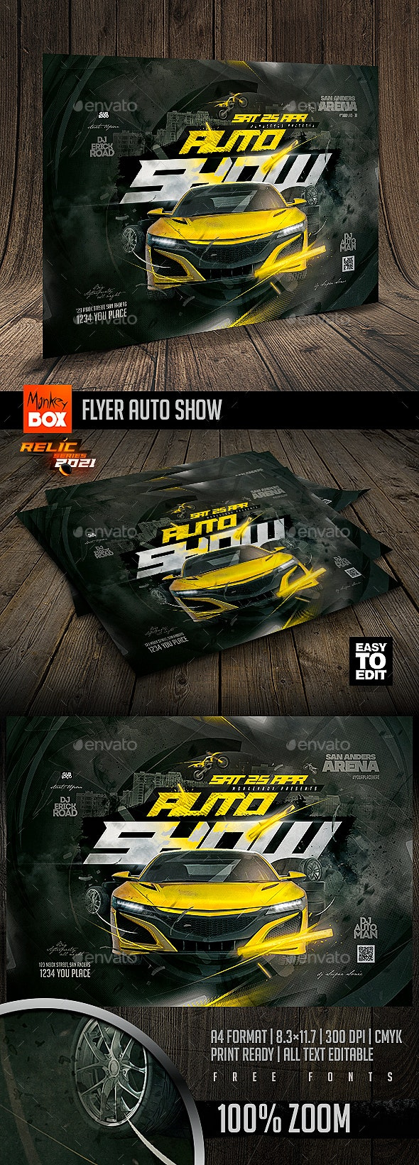 Flyer Auto Show - Events Flyers