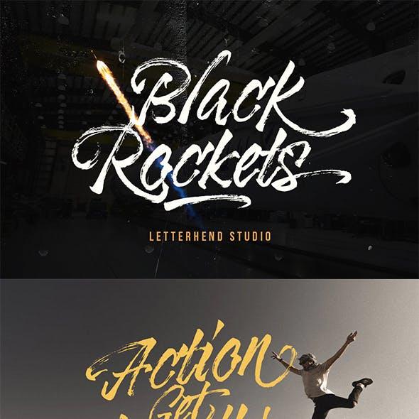 Black Rockets - Dry Brush Font
