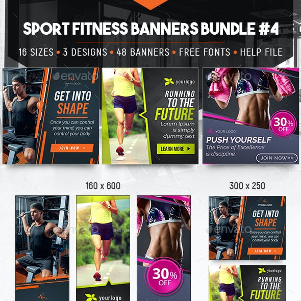 Sport Fitness Banners Bundle