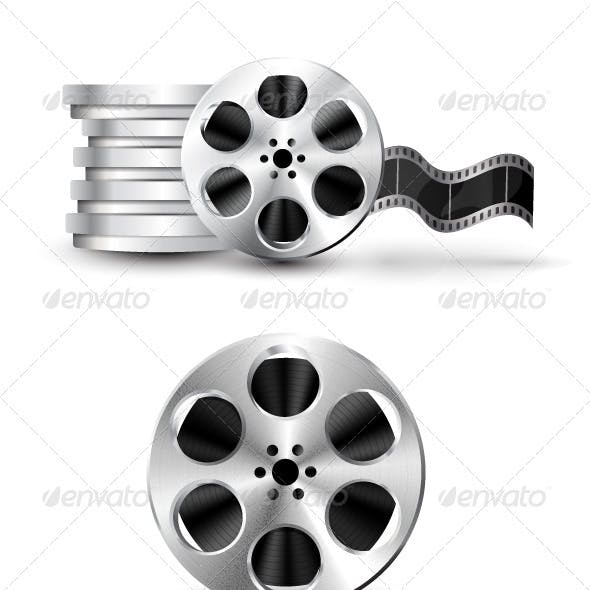 Film Reel Cinema Vector Icons
