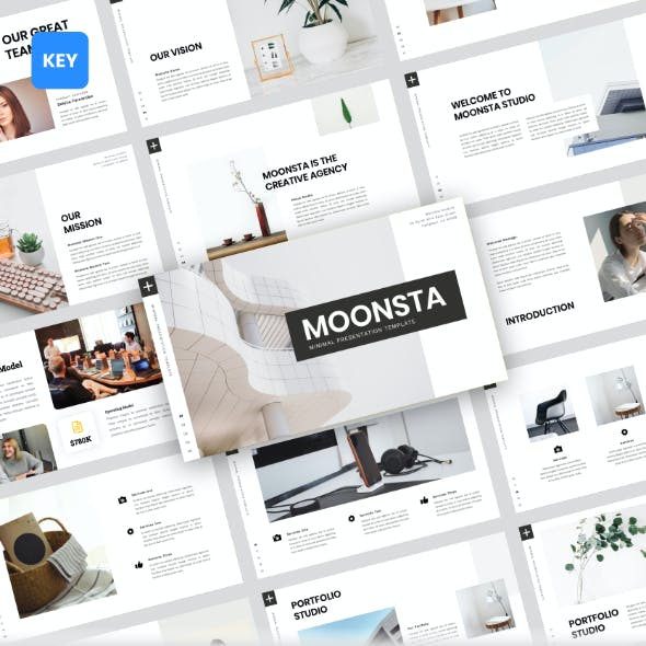 Moonsta - Minimal Keynote Template