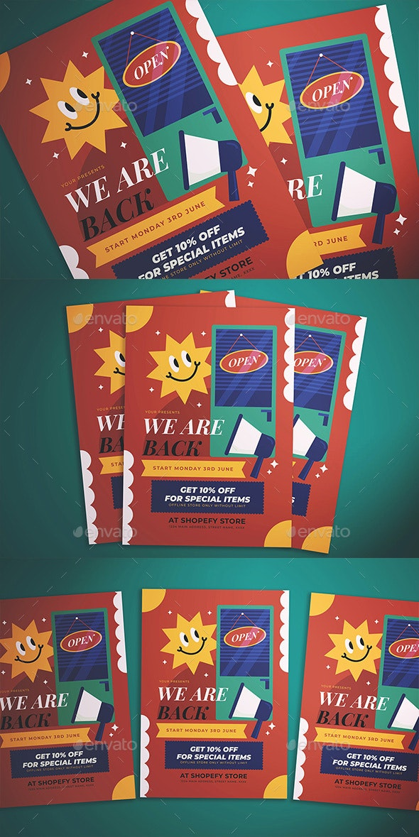 Store Opening Flyer - Flyers Print Templates