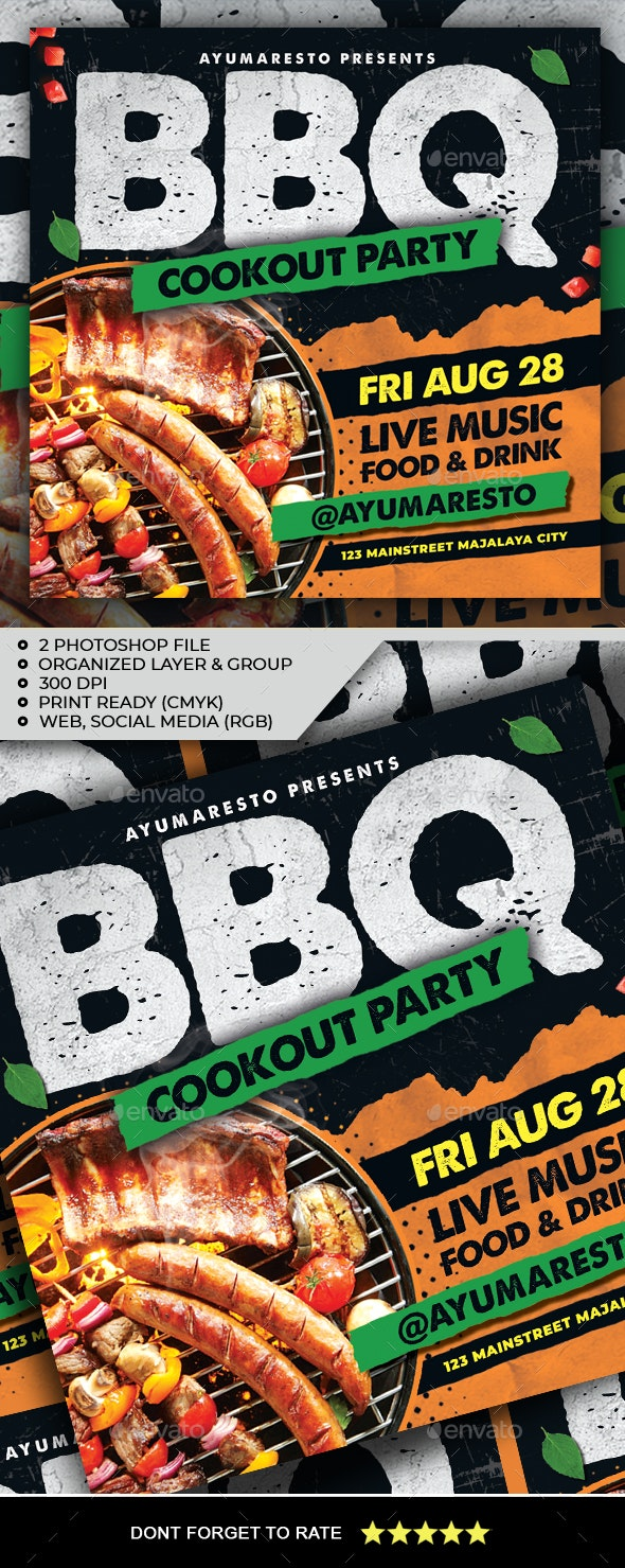 BBQ Party Flyer - Events Flyers