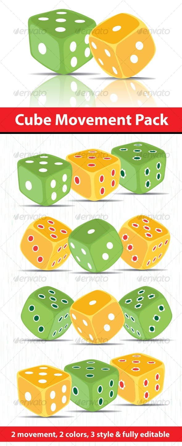 Dice Game Cube Pack - Man-made Objects Objects