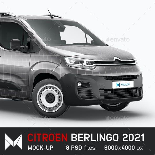 Citroen Berlingo Delivery Van Mockup
