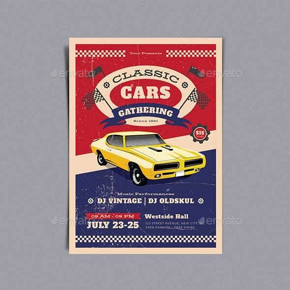 Classic Car Gathering Template