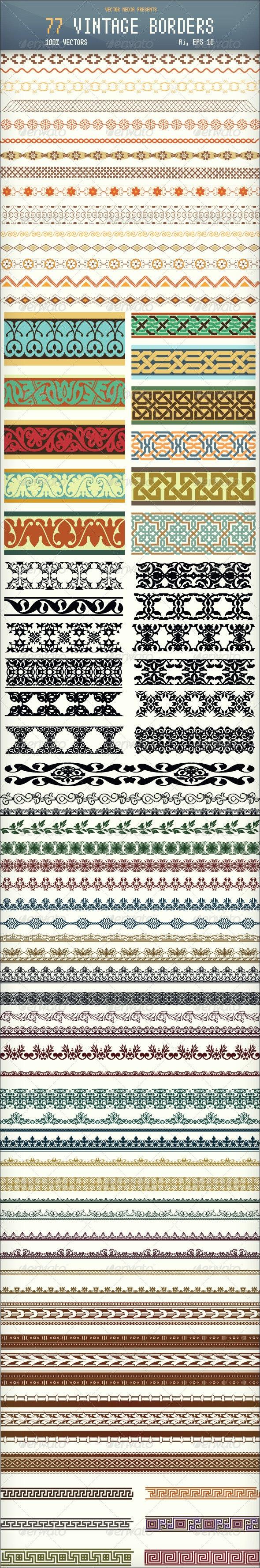 77 Vintage Borders - Borders Decorative