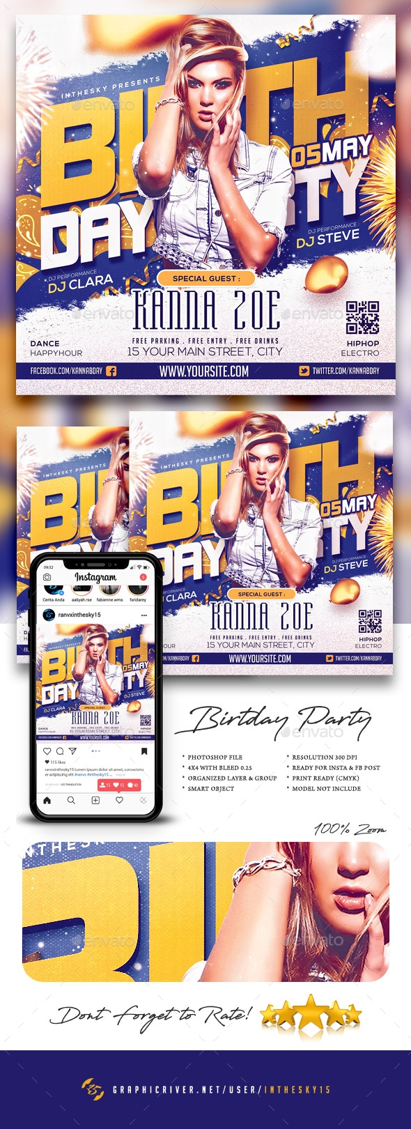 Birthday Party Flyer - Clubs & Parties Events
