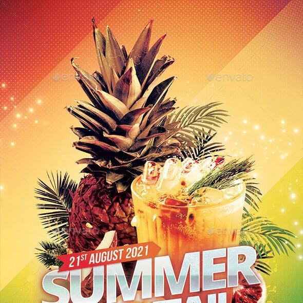 Summer Cocktail Flyer