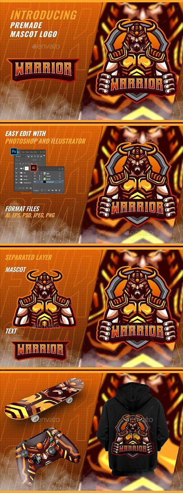 Japan Warrior - Mascot Esport Logo - Humans Logo Templates