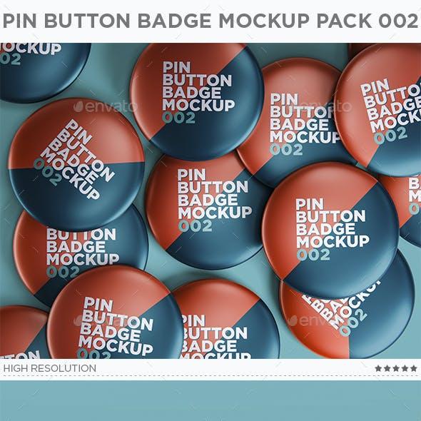 Pin Button Badge Mockup Pack 002