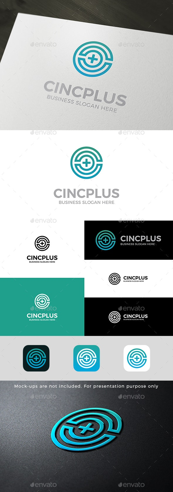 C Plus Logo Letter Mark Circle Shape - Letters Logo Templates