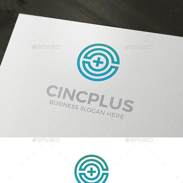 C Plus Logo Letter Mark Circle Shape