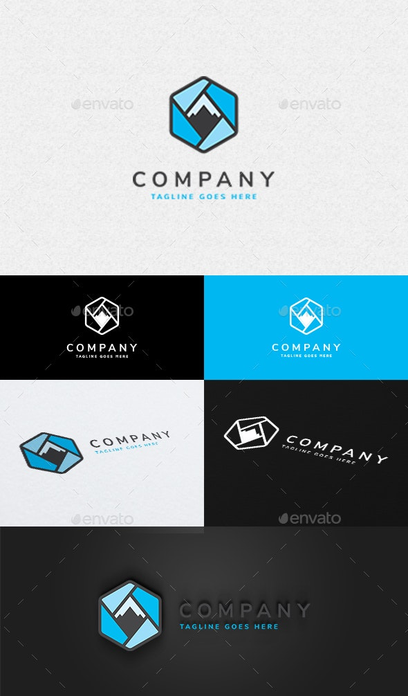 Mountain Box Logo - Nature Logo Templates