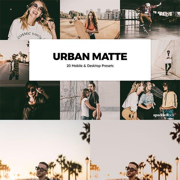 20 Urban Matte Lightroom Presets & LUTs