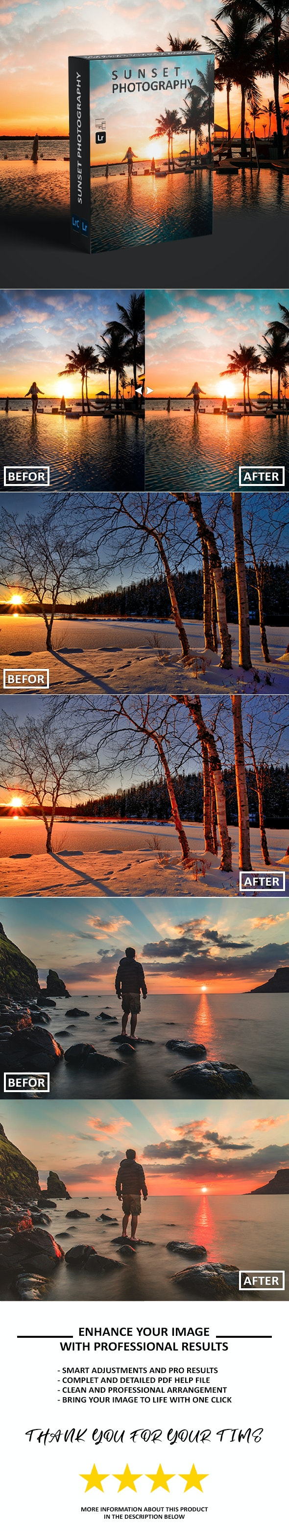 Pro Sunset Photography - Lightroom Presets - Lightroom Presets Add-ons