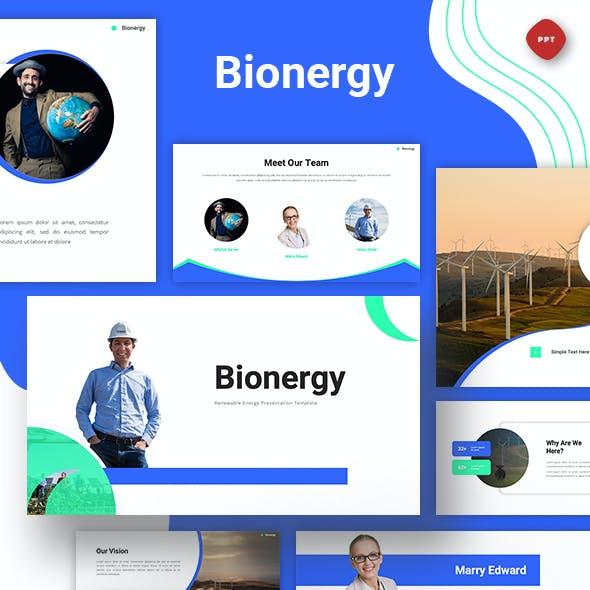 Bionergy - Renewable Energy Powerpoint