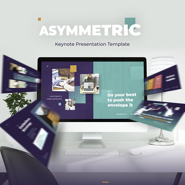 Asymmetric Multipurpose Keynote Presentation Template