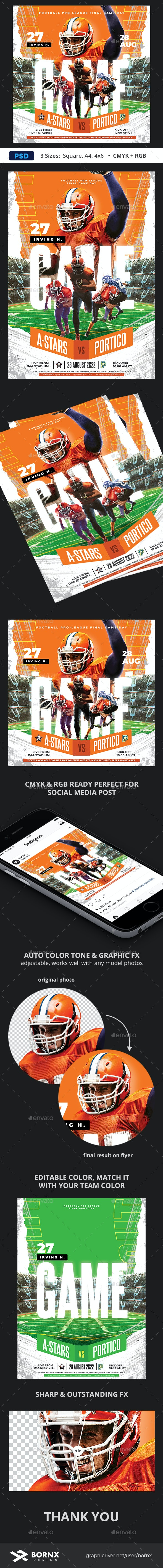 Football Flyer Poster - Sports Events
