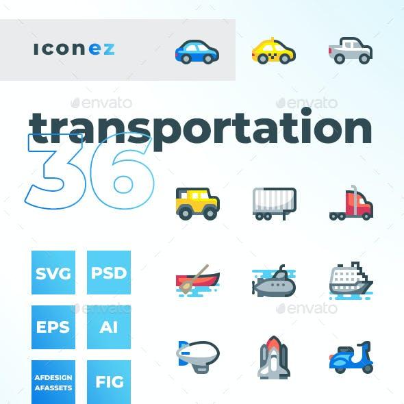 Iconez - Transportation Icons