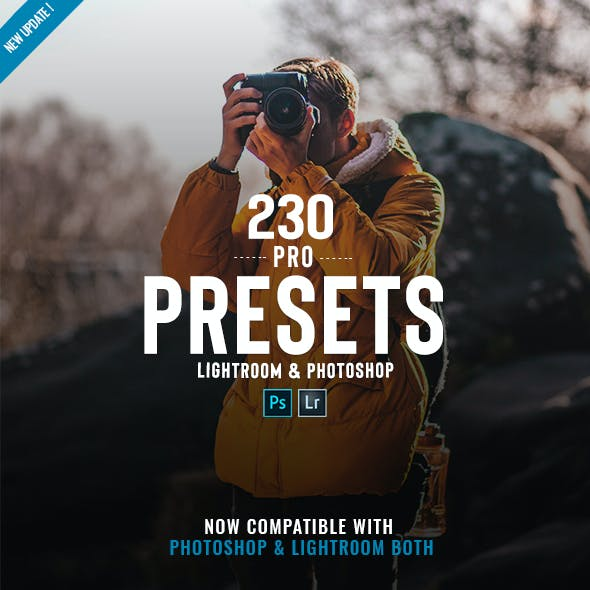 230 Pro Lightroom & Adobe Camera Raw Presets