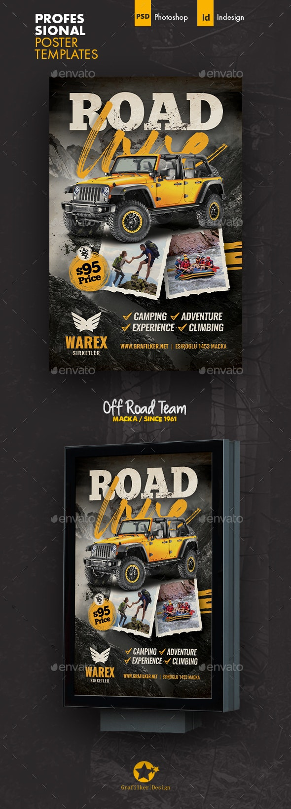 Off Road Poster Templates - Signage Print Templates
