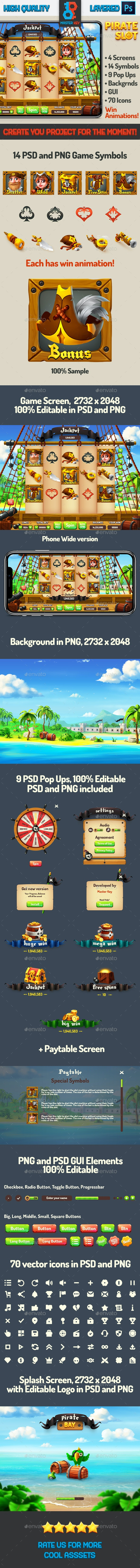 Full Pirate Bay Slot Asset - Game Kits Game Assets