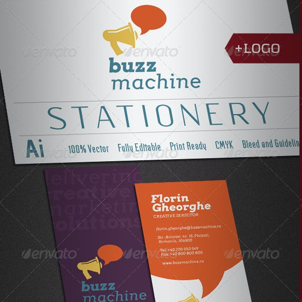 Buzz Machine Stationery V2