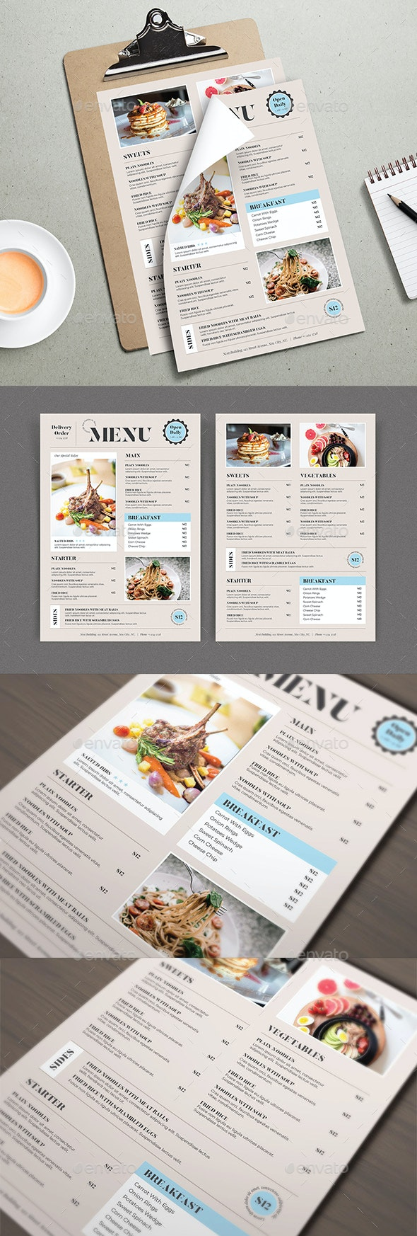 Simple Food Menu Template - Food Menus Print Templates