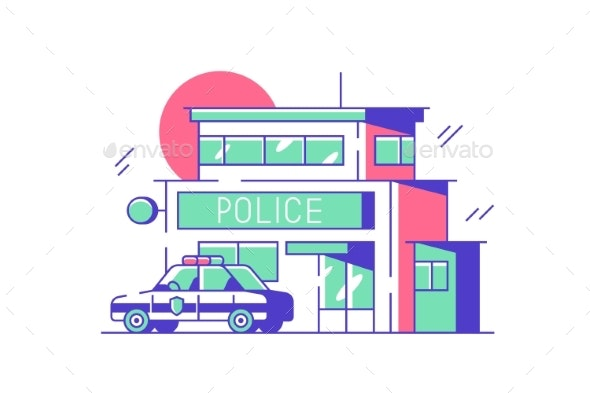Police or Security City Department - Miscellaneous Vectors