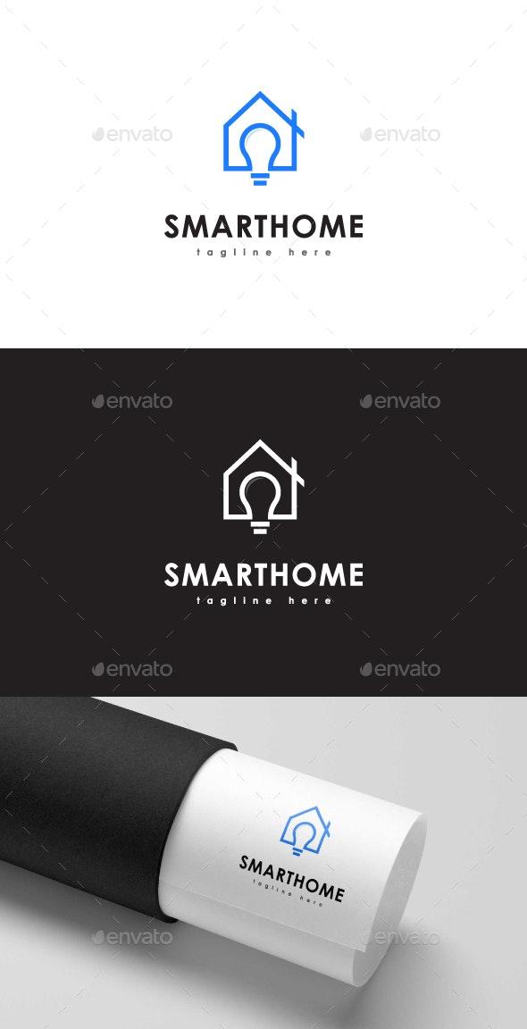 Smart Home Logo - Buildings Logo Templates