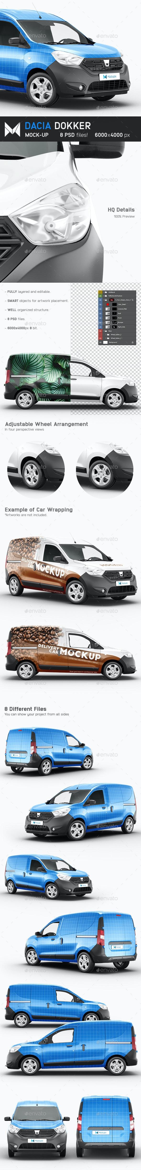Dacia Dokker Mockup - Vehicle Wraps Print