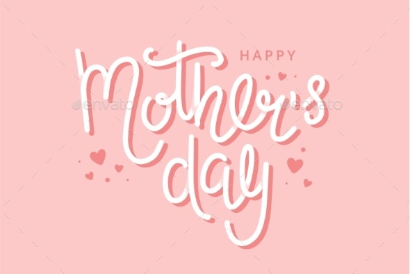 Mother s Day Greeting Card with Hand Drawn - Miscellaneous Vectors