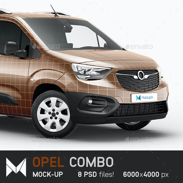 Opel Combo Delivery Car Mockup