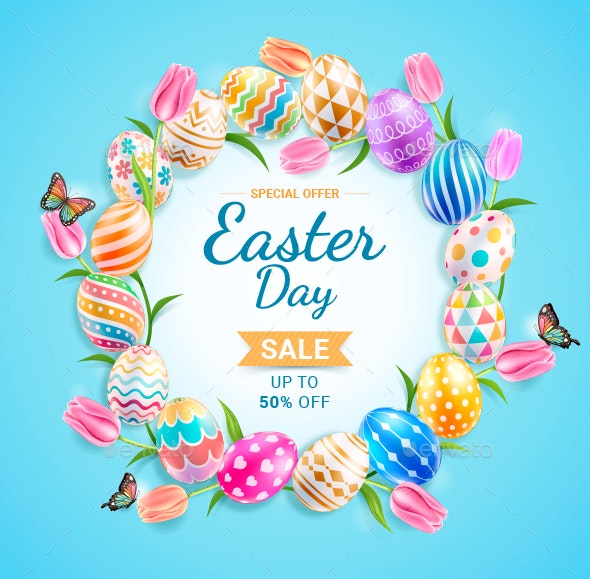 Happy Easter Day Poster Design - Seasons/Holidays Conceptual