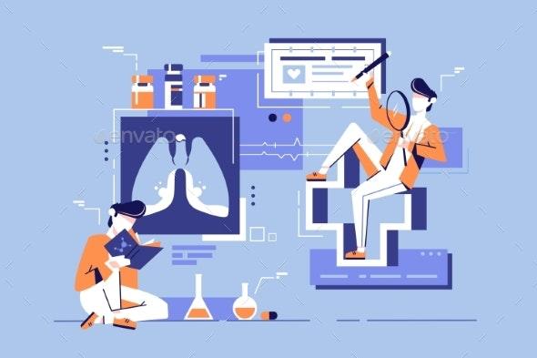 Young Student Man Study Medicine Science - Health/Medicine Conceptual