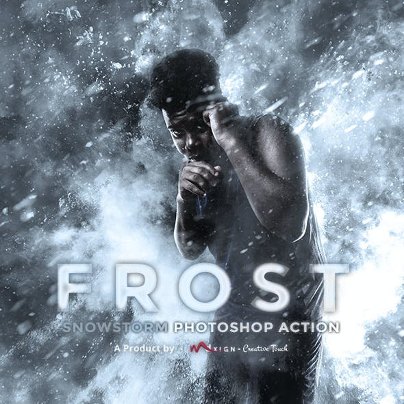 Frost - Snowstorm Photoshop Action